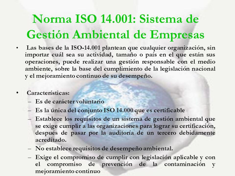 Norma ISO 14.001: Sistema de Gestión Ambiental de Empresas