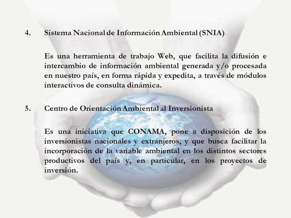 Sistema Nacional de Información Ambiental (SNIA)