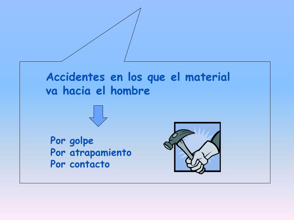 Accidentes en los que el material va hacia el hombre