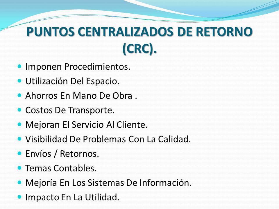 PUNTOS CENTRALIZADOS DE RETORNO (CRC).