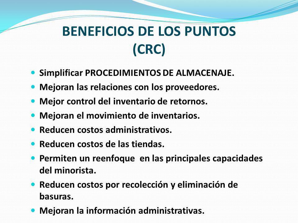 BENEFICIOS DE LOS PUNTOS (CRC)
