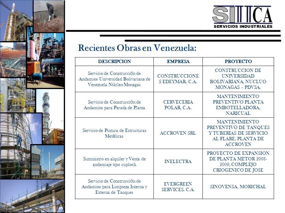 Recientes Obras en Venezuela:
