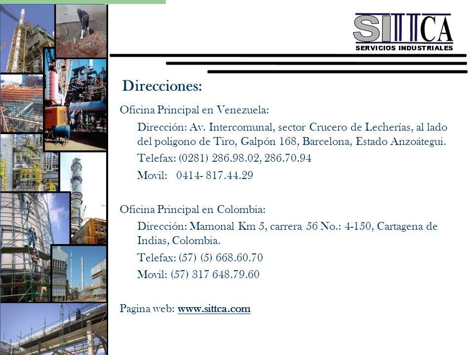 Direcciones: Oficina Principal en Venezuela: