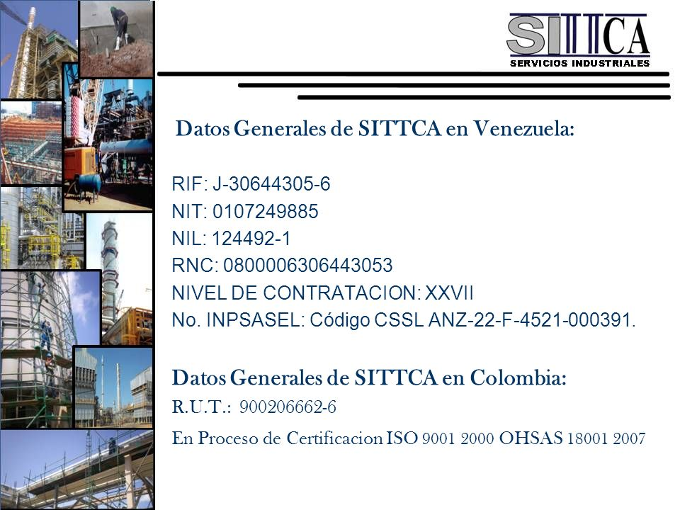 Datos Generales de SITTCA en Venezuela: