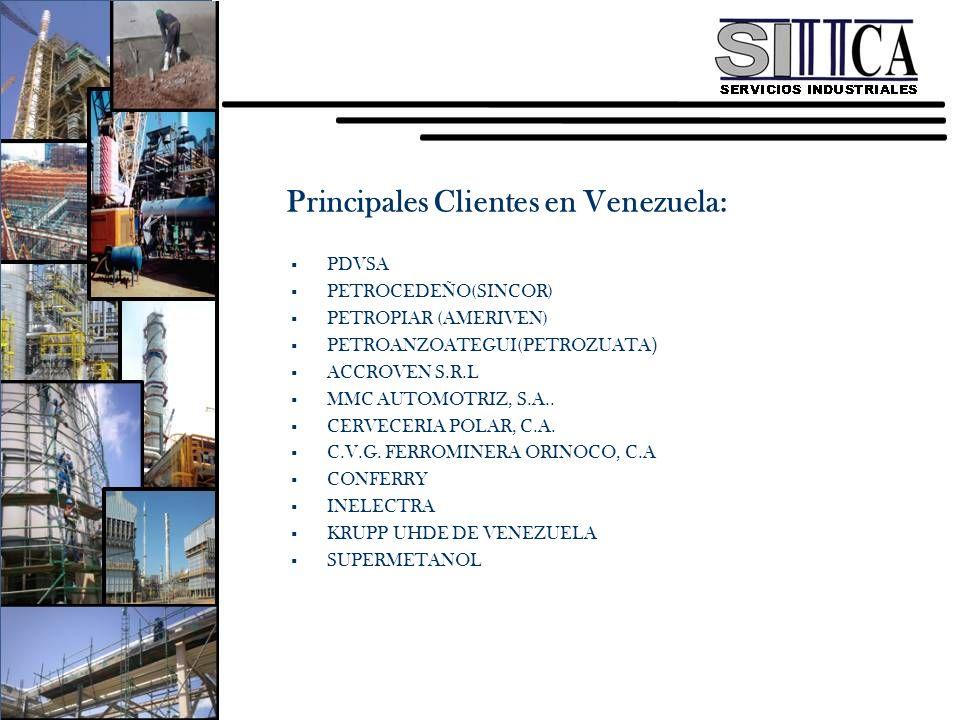 Principales Clientes en Venezuela: