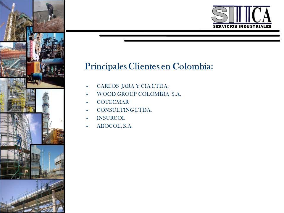 Principales Clientes en Colombia: