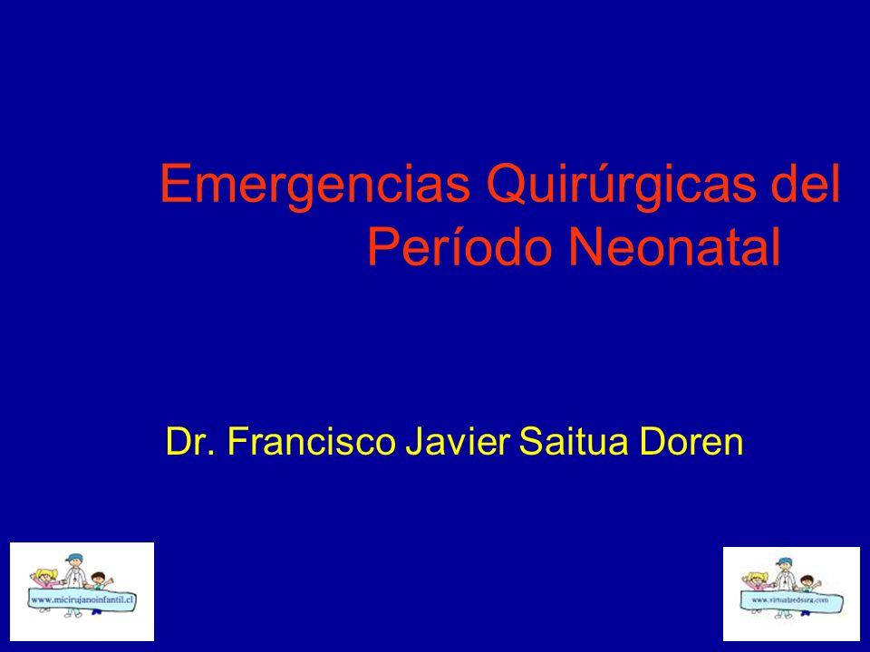 Emergencias Quirúrgicas del Período Neonatal