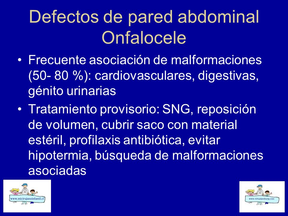 Defectos de pared abdominal Onfalocele