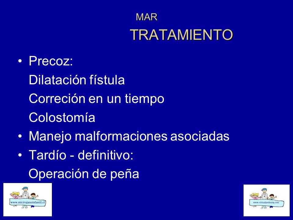 Manejo malformaciones asociadas Tardío - definitivo: Operación de peña