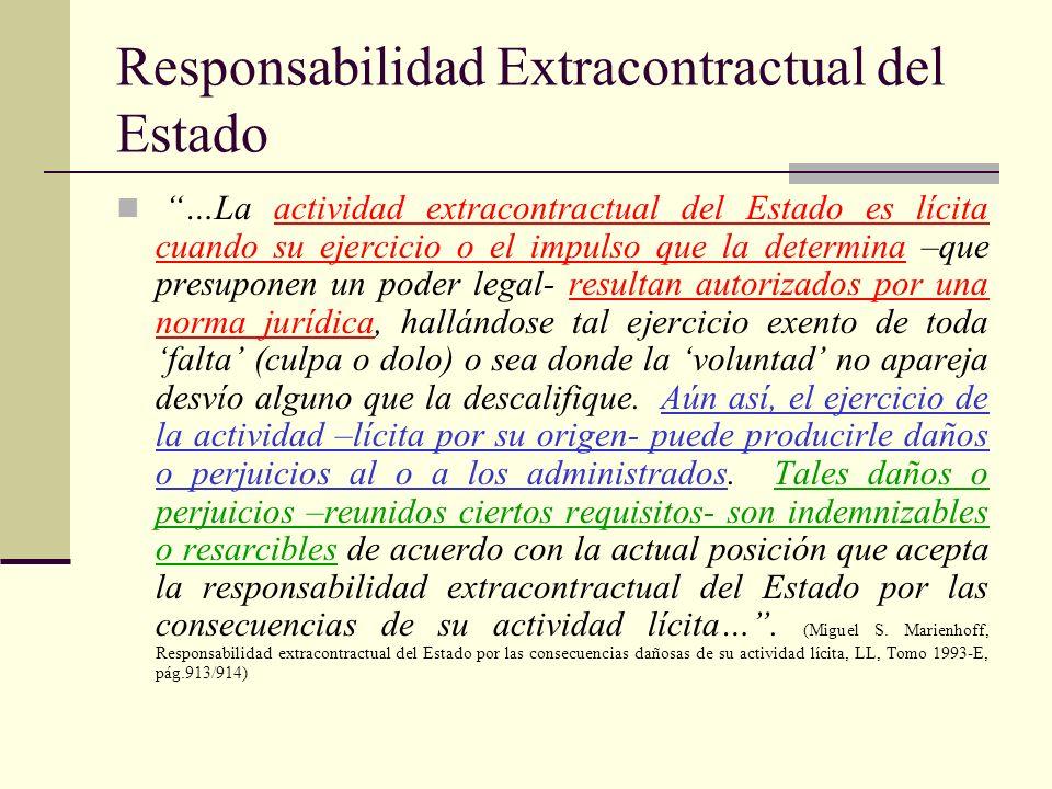 Responsabilidad Extracontractual del Estado
