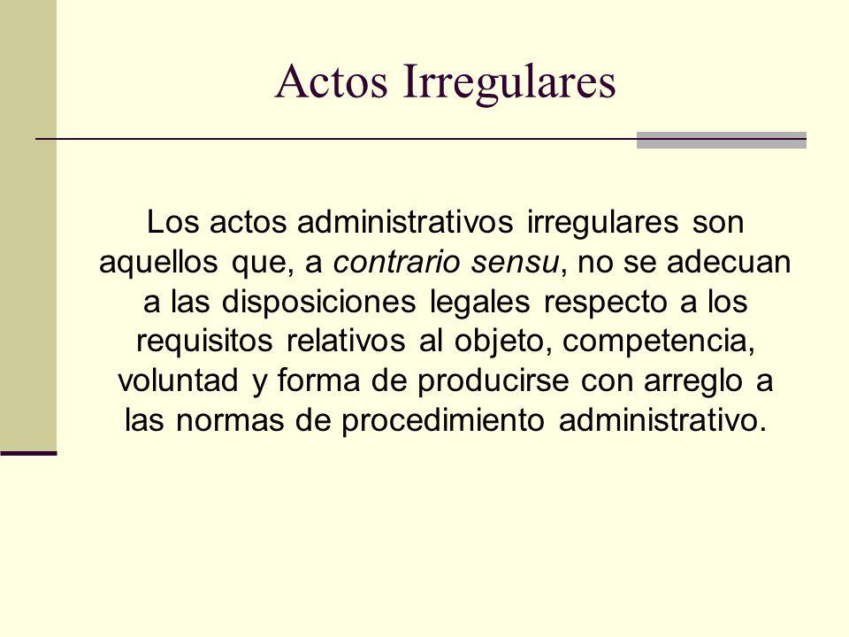 Actos Irregulares