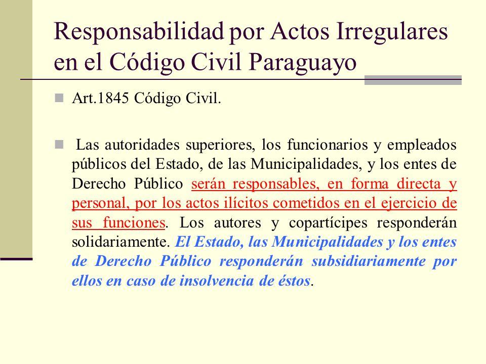Responsabilidad por Actos Irregulares en el Código Civil Paraguayo
