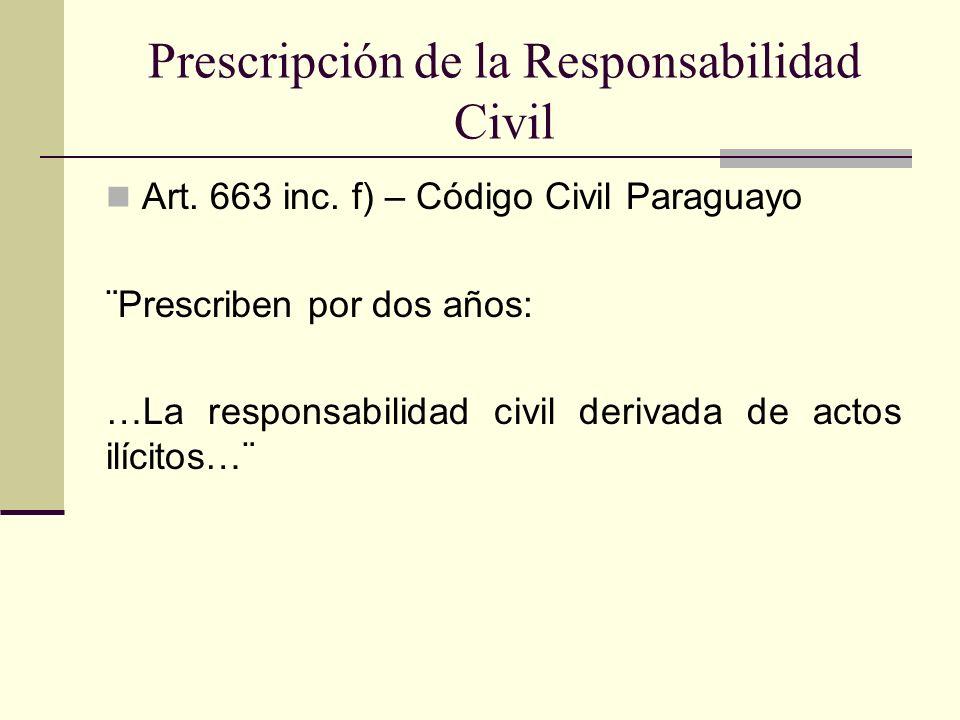 Prescripción de la Responsabilidad Civil