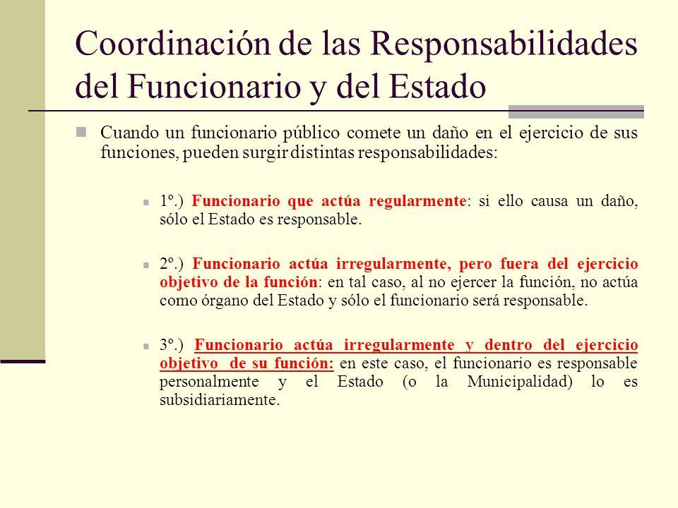 Coordinación de las Responsabilidades del Funcionario y del Estado