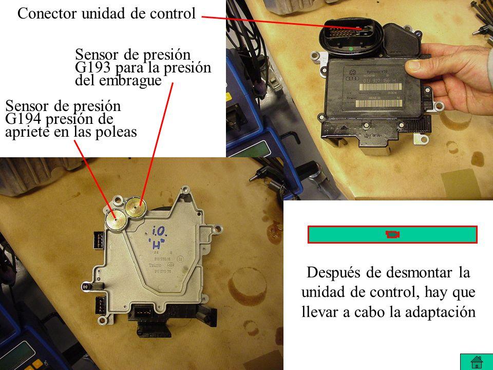 Conector unidad de control