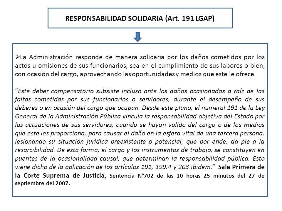 RESPONSABILIDAD SOLIDARIA (Art. 191 LGAP)