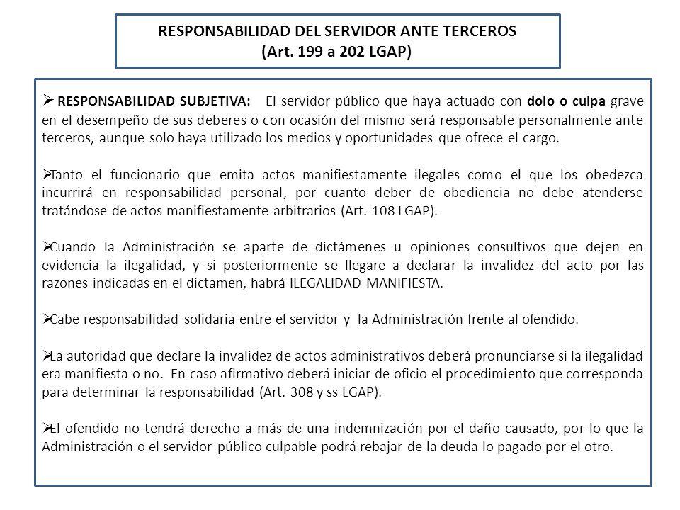 RESPONSABILIDAD DEL SERVIDOR ANTE TERCEROS