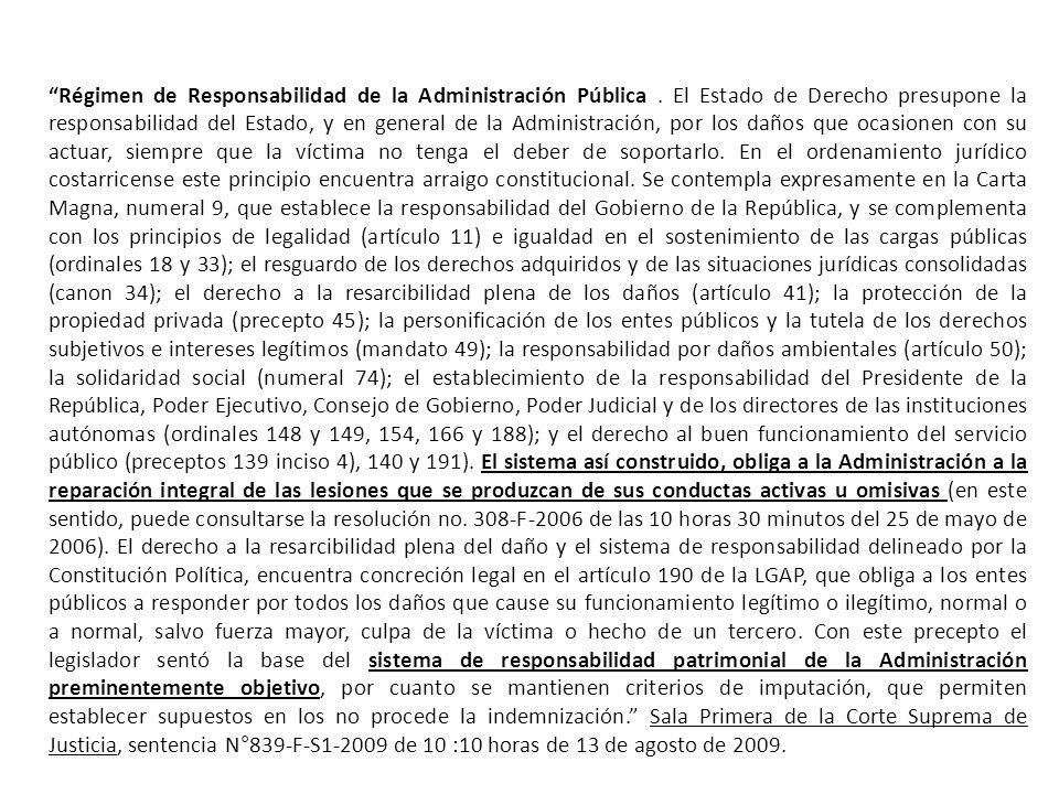 Régimen de Responsabilidad de la Administración Pública