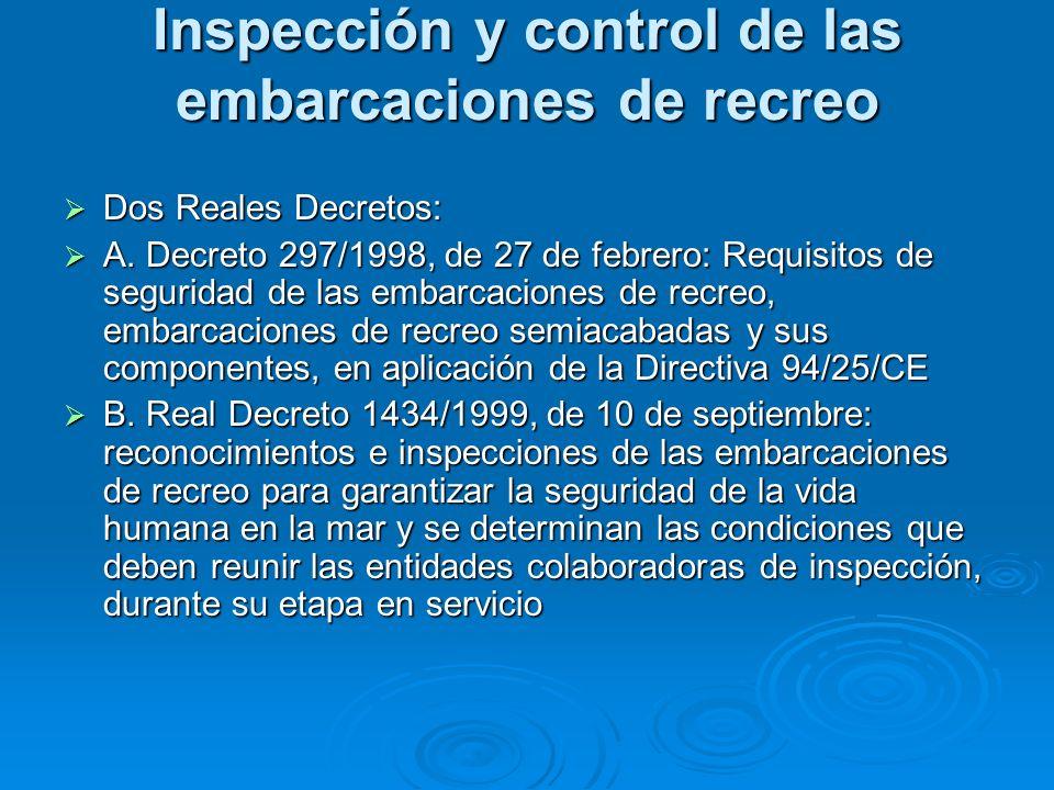 Inspección y control de las embarcaciones de recreo