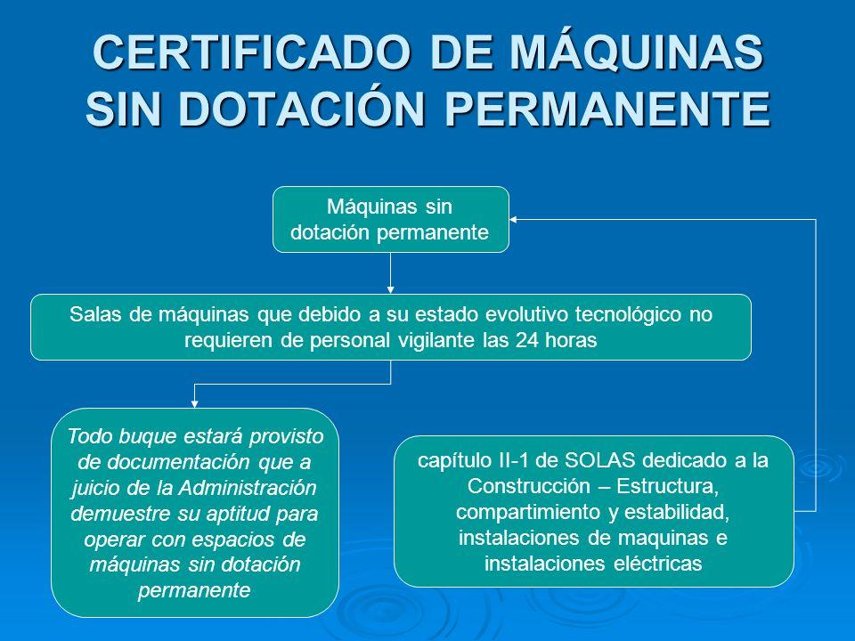 CERTIFICADO DE MÁQUINAS SIN DOTACIÓN PERMANENTE