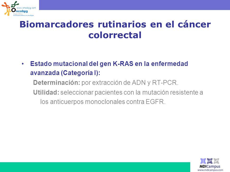 Biomarcadores rutinarios en el cáncer colorrectal
