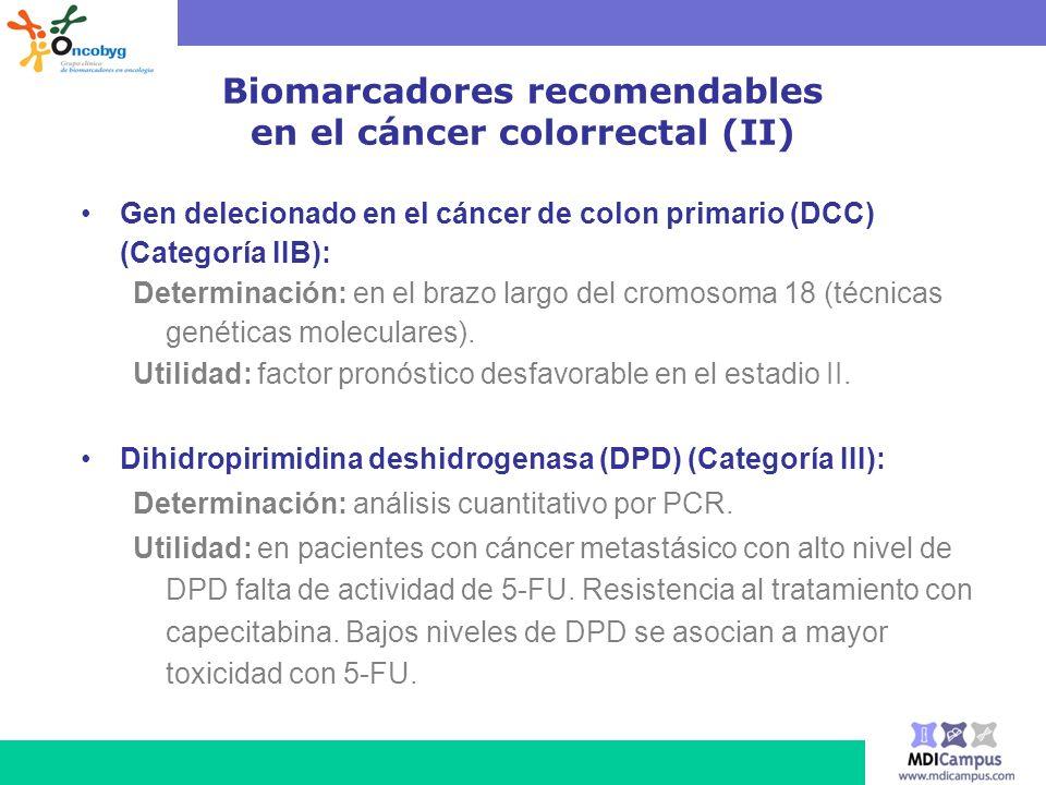 Biomarcadores recomendables en el cáncer colorrectal (II)