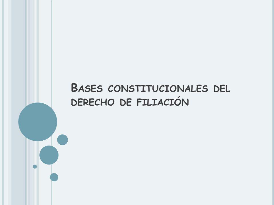 Bases constitucionales del derecho de filiación