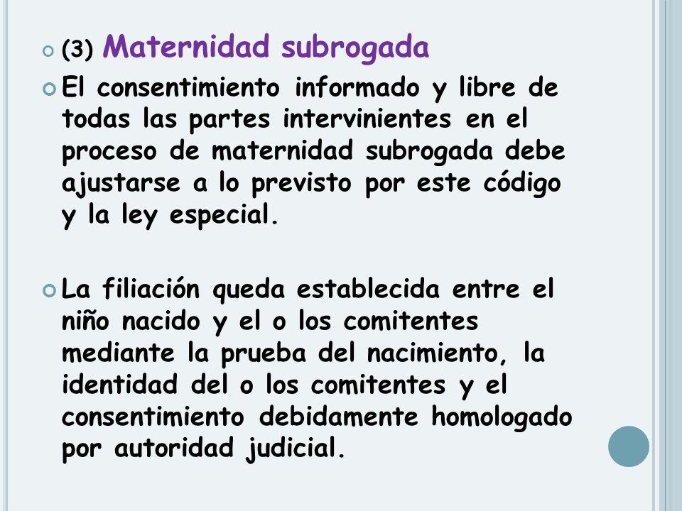 (3) Maternidad subrogada