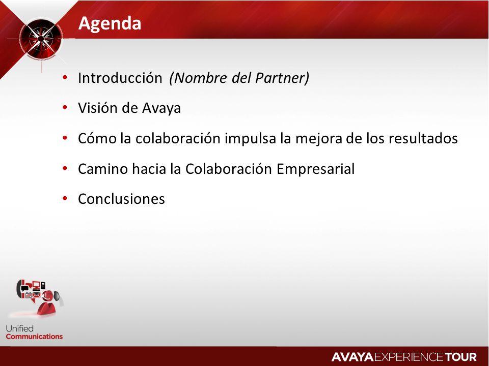 Agenda Introducción (Nombre del Partner) Visión de Avaya
