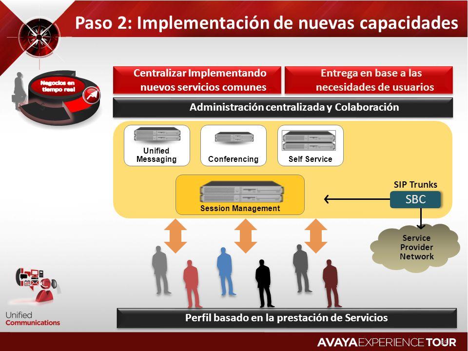 Paso 2: Implementación de nuevas capacidades