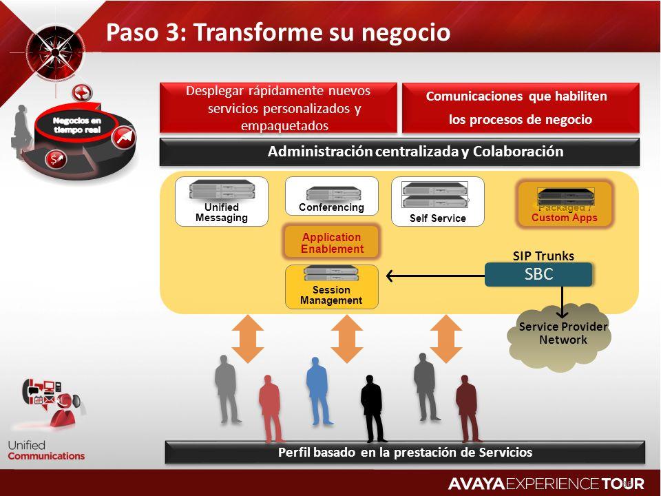 Paso 3: Transforme su negocio