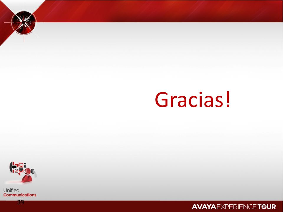 Gracias! 39 © 2011 Avaya Inc. All rights reserved.