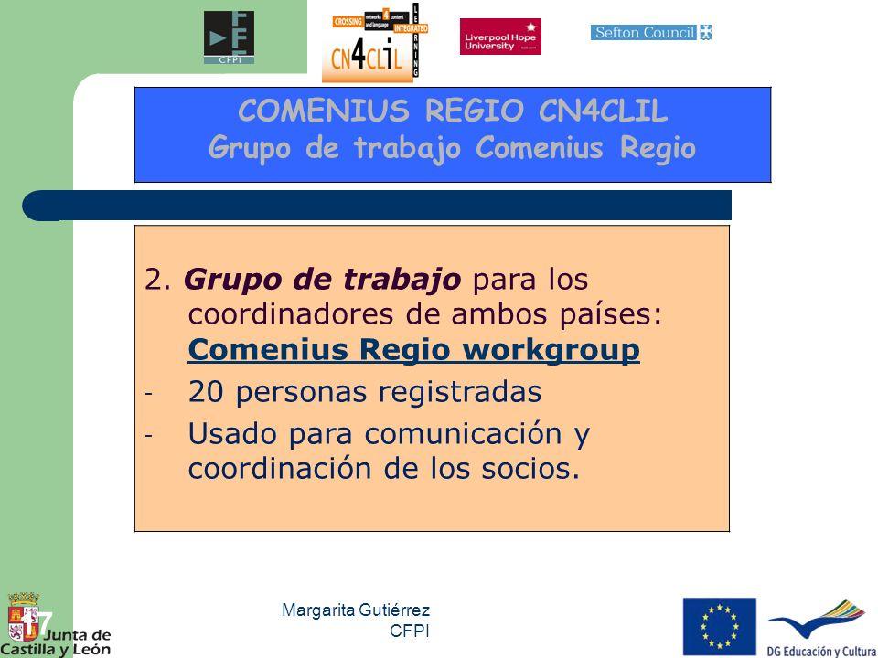 Grupo de trabajo Comenius Regio