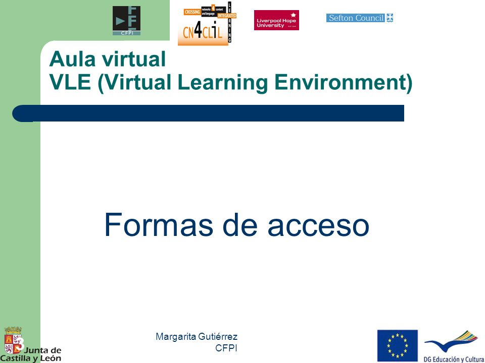 Aula virtual VLE (Virtual Learning Environment)