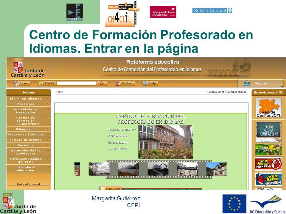 Centro de Formación Profesorado en Idiomas. Entrar en la página