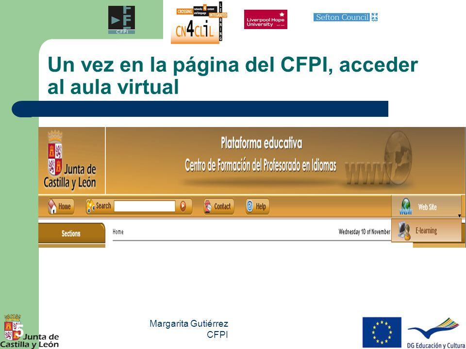 Un vez en la página del CFPI, acceder al aula virtual
