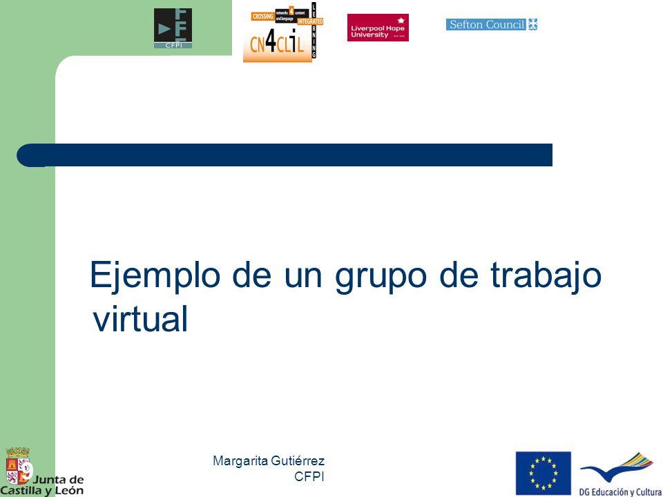 Ejemplo de un grupo de trabajo virtual