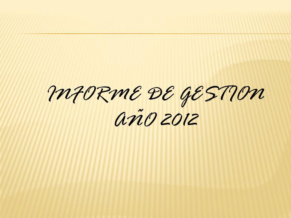 INFORME DE GESTION AÑO 2012