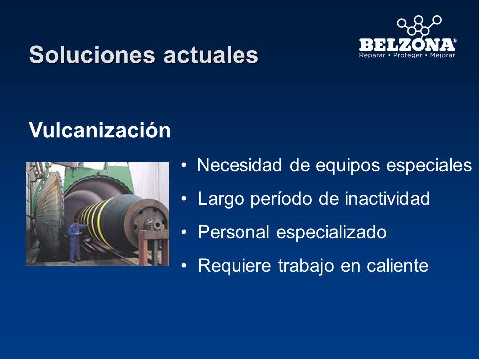 Soluciones actuales Vulcanización Necesidad de equipos especiales