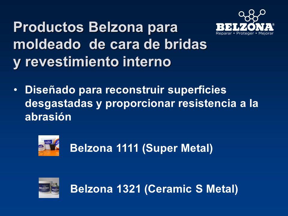 Productos Belzona para moldeado de cara de bridas y revestimiento interno