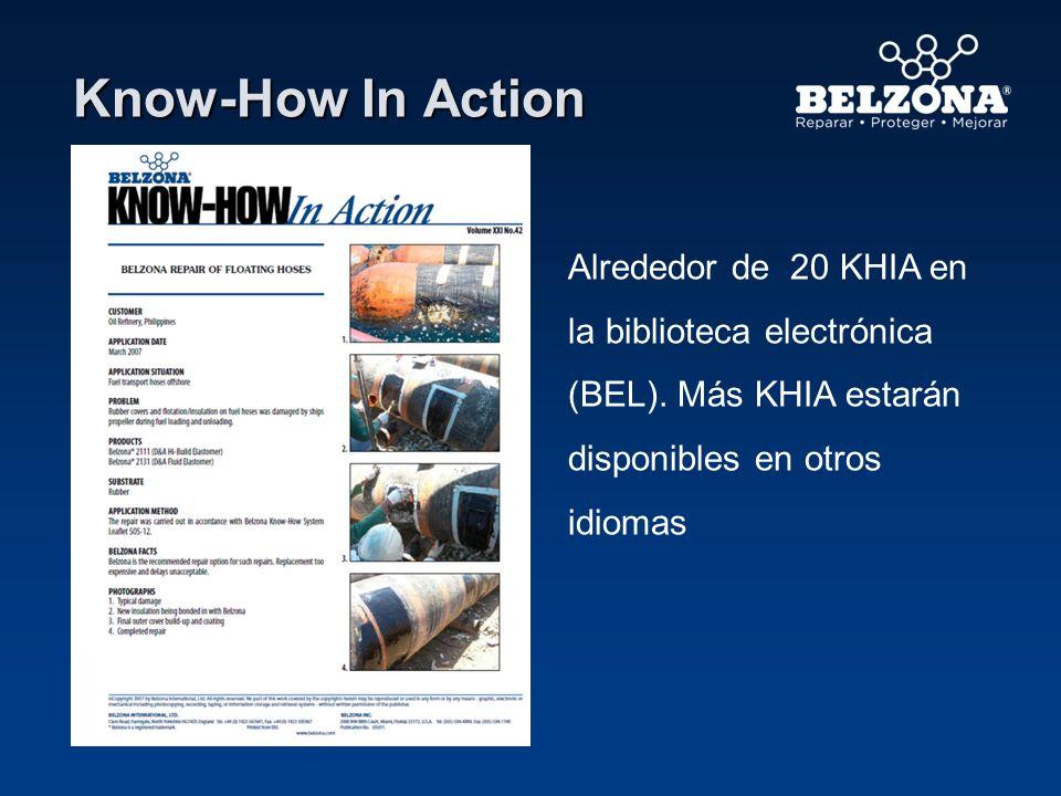 Know-How In Action Alrededor de 20 KHIA en la biblioteca electrónica (BEL). Más KHIA estarán disponibles en otros idiomas.
