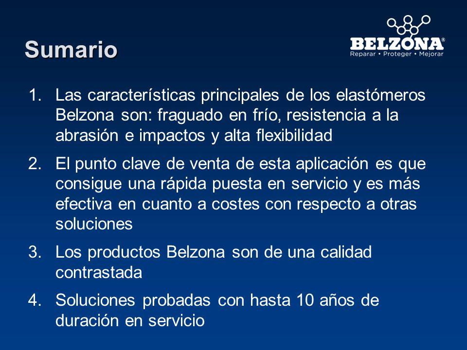 Sumario Las características principales de los elastómeros Belzona son: fraguado en frío, resistencia a la abrasión e impactos y alta flexibilidad.
