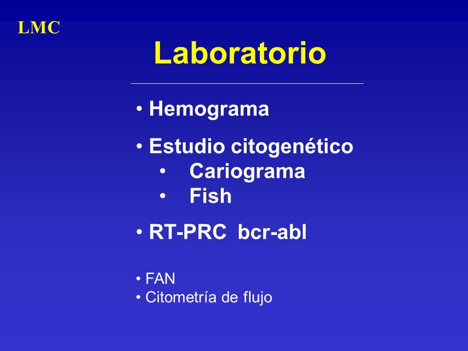 Laboratorio Hemograma Estudio citogenético Cariograma Fish