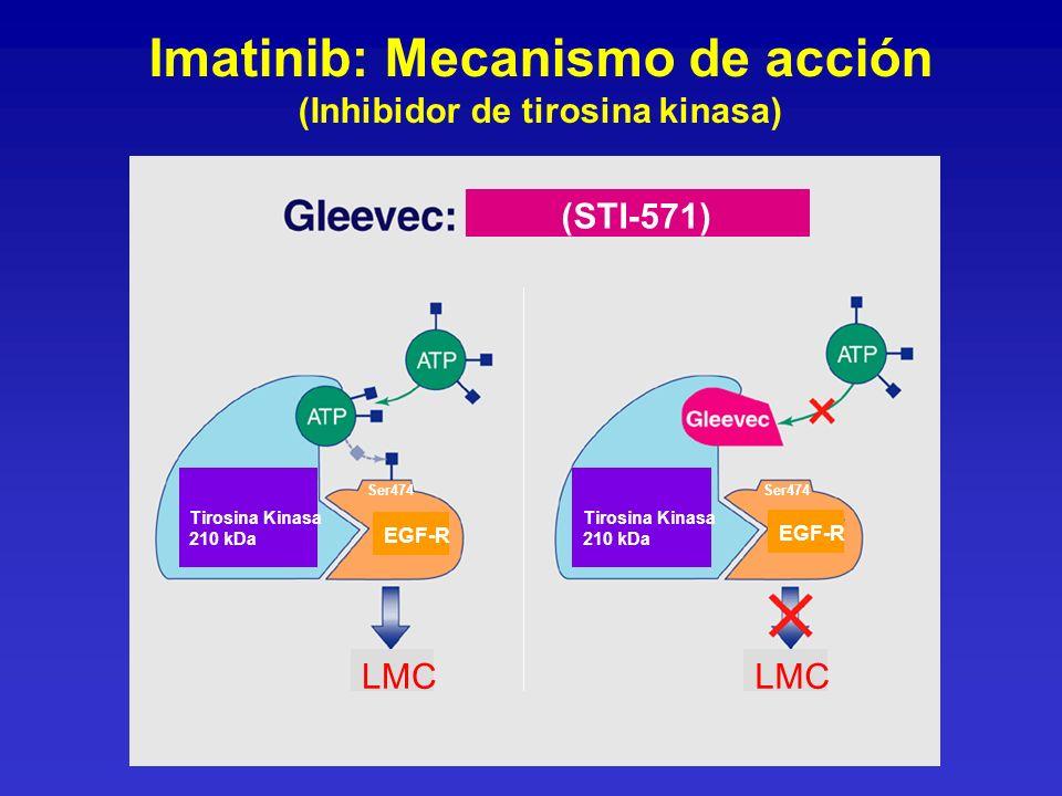 Imatinib: Mecanismo de acción (Inhibidor de tirosina kinasa)
