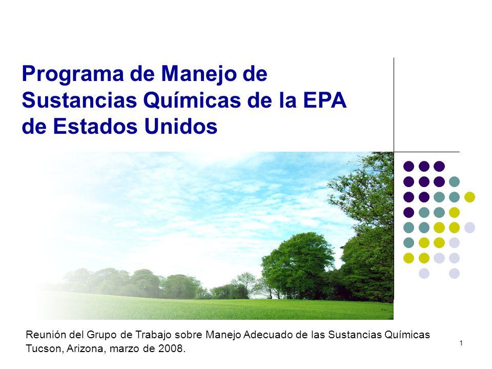 Programa de Manejo de Sustancias Químicas de la EPA de Estados Unidos