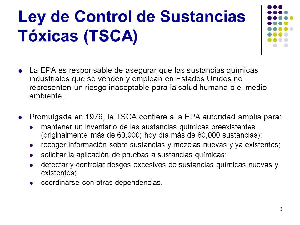 Ley de Control de Sustancias Tóxicas (TSCA)