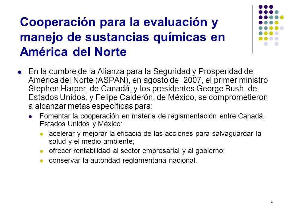 Cooperación para la evaluación y manejo de sustancias químicas en América del Norte