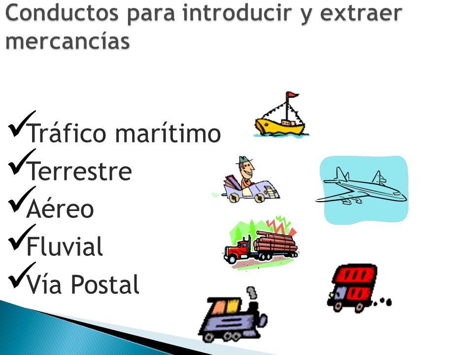 Conductos para introducir y extraer mercancías