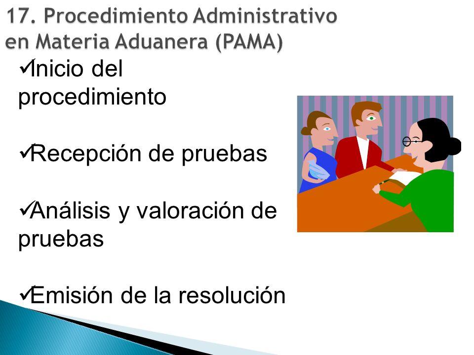 17. Procedimiento Administrativo en Materia Aduanera (PAMA)