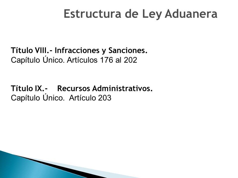 Estructura de Ley Aduanera